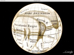 Historical maps in Google Mars.  Credit: Google.