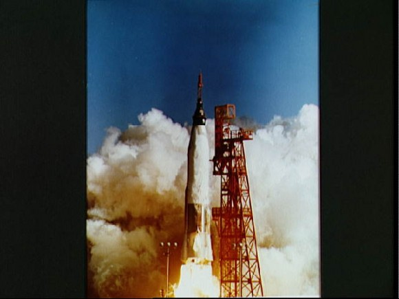 The launch of John Glenn on Mercury 6.  Credit: NASA