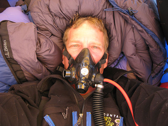 Scott Parazynski during his attempt to climb Mt. Everest. Credit: OnOrbit.com