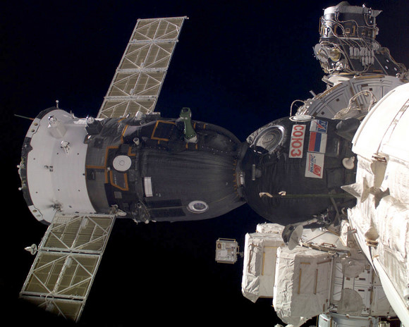 Soyuz attached to the ISS. Credit: NASA