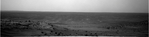 Spirit navigation camera panorama from Sol 1849. Credit: NASA/JPL