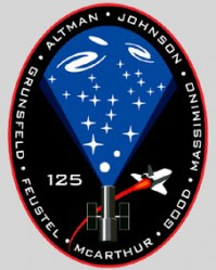 Mission patch for STS-125. Credit: NASA