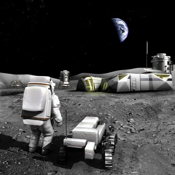 Moon base. Credit: NASA