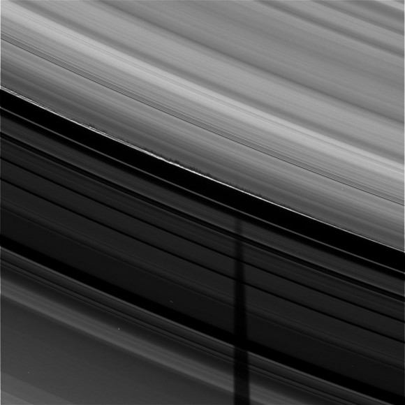 Saturn ring shadows. Credit: NASA/Cassini
