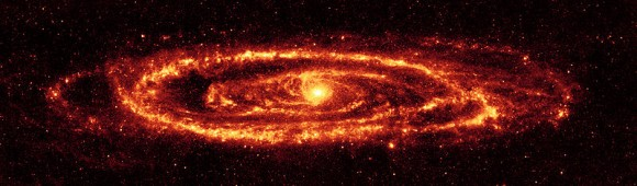 Andromeda galaxy photo. Image credit: Spitzer