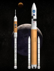 The Constellation program's Ares rockets.  Credit: NASA
