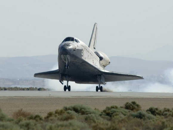 Atlantis touches down in California.  Credit: NASA