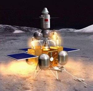 Artist concept of a Chinese lunar mission. Credit: Xinhua