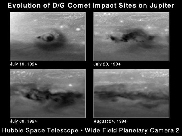 Comet P/Shoemaker-Levy 9 plunges into Jupiter. Credit: H. Hammel. MIT and NASA
