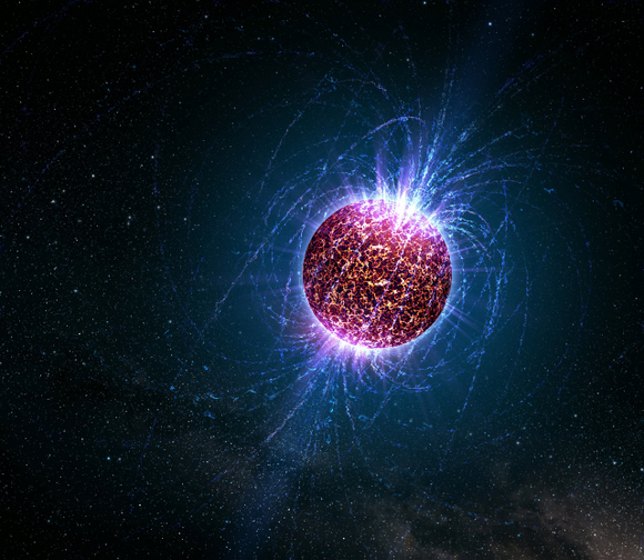 Artist concept of a neutron star.  Credit: NASA
