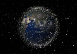 Space debris in Low Earth orbit. Credit:  ESA