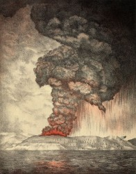 Illustration of the Krakatoa eruption.