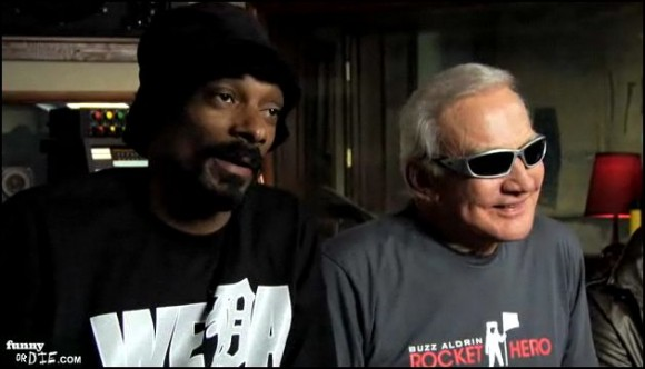 Buzz Aldrin and Snoop Dog. Credit: FunnyorDie.com