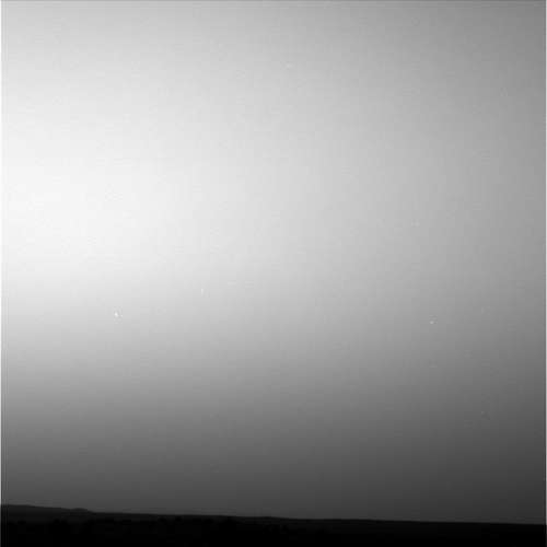 Spirit's twilight observations from sol 1947. Credit: NASA/JPL