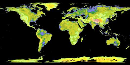 Global map from ASTER. Credit: NASA, METI