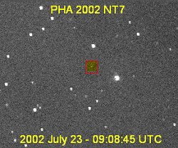 Faint image of asteroid 2002 NT7