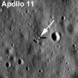 Apollo 11 landing site as imaged by LRO. Credit: NASA