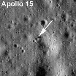 Apollo 15 site by LRO. Credit: NASA