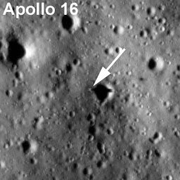Apollo 16 by LRO. Credit: NASA