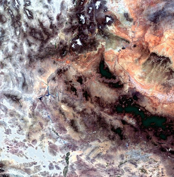 Grand Canyon from space. Click for larger version. Credit: ESA