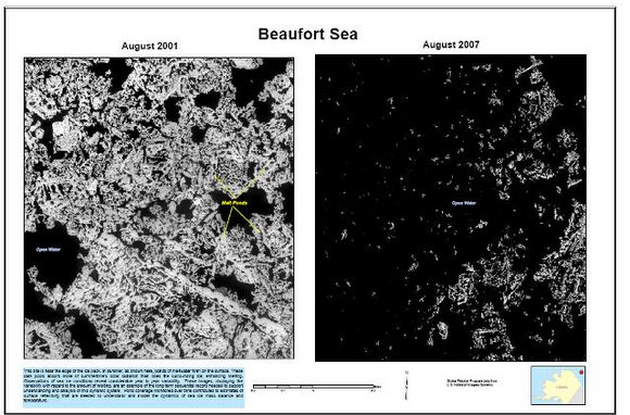 Ice loss in the Beaufort Sea. Credit: USGS