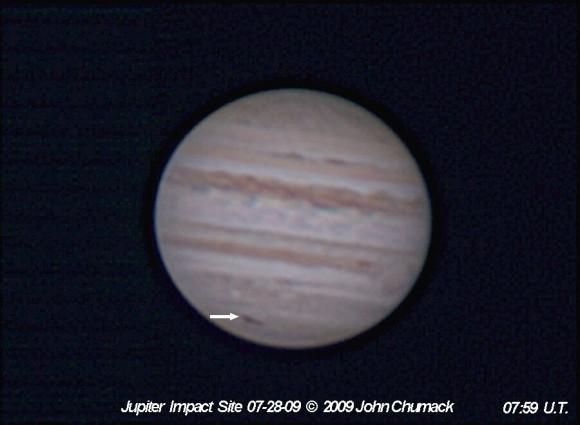 July 28, 2009 Jupiter Impact Site by John Chumack