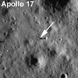 Apollo 17 LRO. Credit: NASA