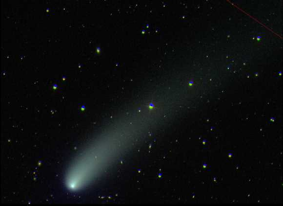 A long-period comet called 2001 RX14 (Linear) turned up in images captured in 2002 by the Sloan Digital Sky Survey telescope in New Mexico.