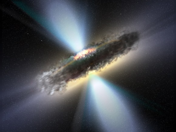Artist&#039;s illustration of a supermassive black hole. Image credit: NASA