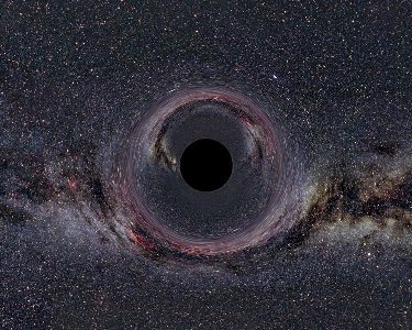 Artists concept of a black hole.