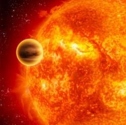 An artist's impression of a transiting exoplanet. Credit: ESA C Carreau