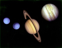 the four gas giants in our Solar System Credit: NASA/JPL