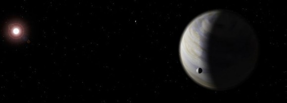 An artist's impression of Gliese 581d, an exoplanet about 20.3 light-years away from Earth, in the constellation Libra.