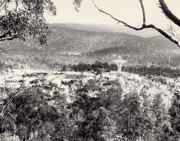 Honeysuckle Creek Tracking Station during Winter (July) 1969. Photo courtesy Bruce Ekert