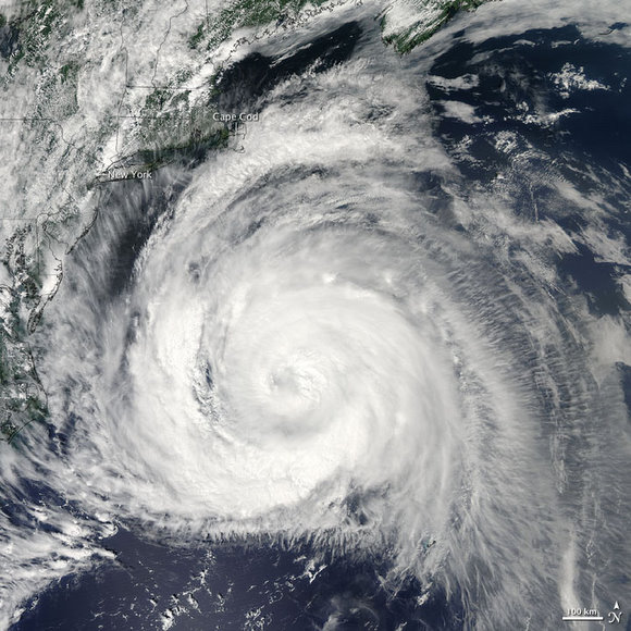 Hurricane Bill skirts the Eastern Coast of the US.  NASA image by Jeff Schmaltz, MODIS Rapid Response Team, Goddard Space Flight Center.