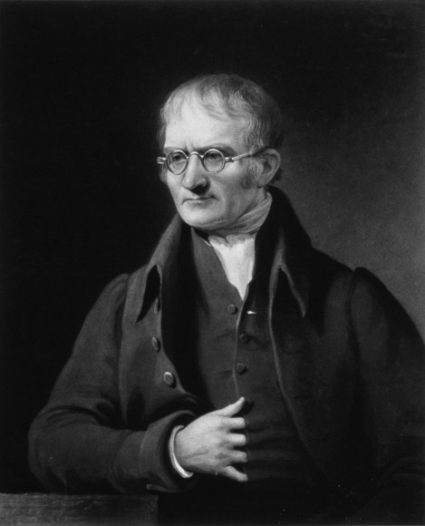 John Dalton, the father of atomic theory, by Charles Turner. Credit: Wikipedia