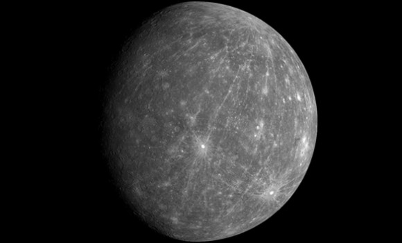 Mercury, as imaged by the MESSENGER spacecraft, revealing parts of the never seen by human eyes. Image Credit: NASA/Johns Hopkins University Applied Physics Laboratory/Carnegie Institution of Washington