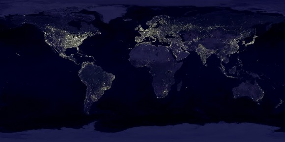 Earth lights at night.