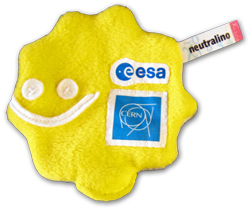 The plush particle with the CERN logo. Source: CERN