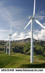 Wind turbines: credit fotosearch.com