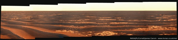 Opportunity drive mosiac from sol 2011.  Compiled by James Canvin.  Used by permission.