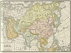 1892 British map of Asia