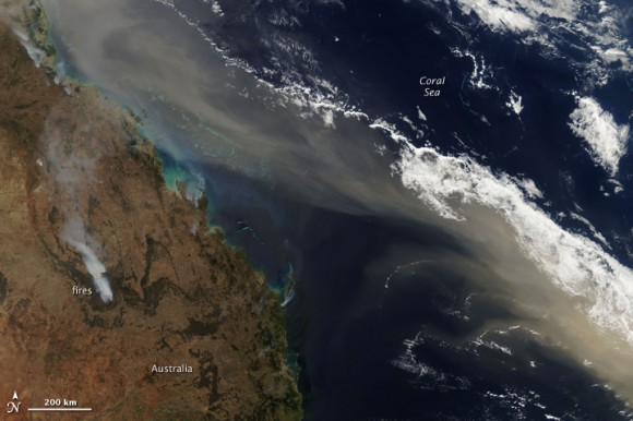 Dust storm over Australia during the afternoon of Sept. 24, 2009. NASA image courtesy Jeff Schmaltz, MODIS Rapid Response Team at NASA GSFC.