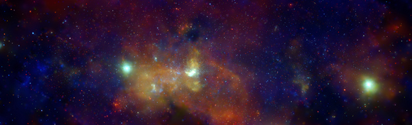 •A deep new image of the center of the Milky Way by the Chandra X-ray Observatory.   NASA/CXC/UMass/D. Wang et al.