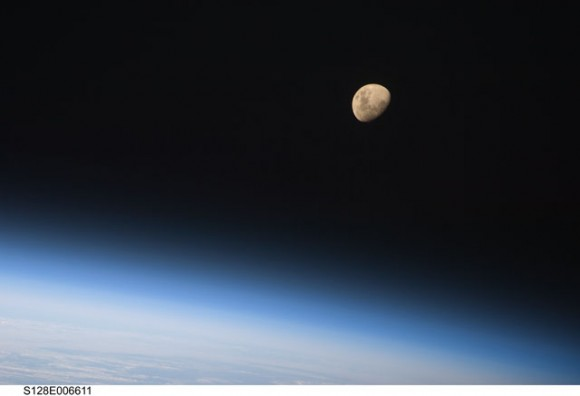Earth and Moon from space. Credit: NASA