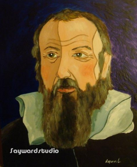 Galileo.  Painting by Sayward Duffano