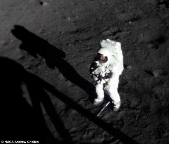 Neil Armstrong on the moon.  Really.  Credit: NASA/ Andrew Chaikin