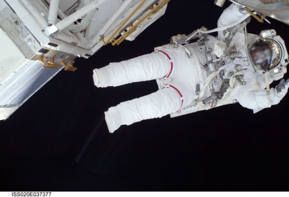Nicole Stott during an EVA. Credit: NASA