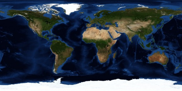 NASA satellite map of the Earth
