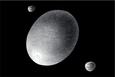 Artist concept of Haumea. Credit: NASA